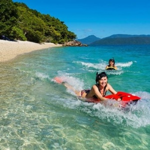 Seabob Jets Make a Splash With Cruise Whitsundays at Whitehaven Beach